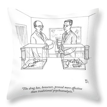 The Drug Throw Pillow