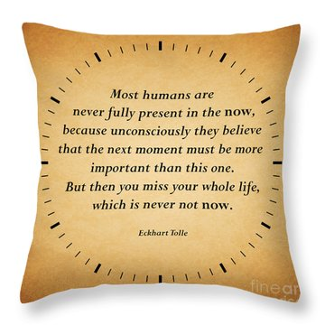 116- Eckhart Tolle Throw Pillow by Joseph Keane