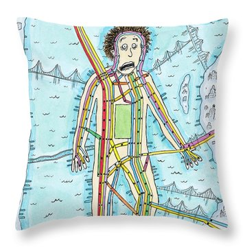 New Yorker June 30th, 2008 Throw Pillow