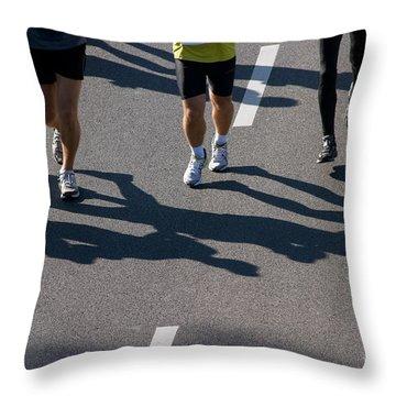 11th Poznan Marathon Throw Pillow by Michal Bednarek