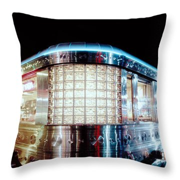 11th Street Diner Throw Pillow