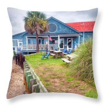 11th Street Dockside Restaurant Throw Pillow