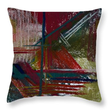Rough Diamond Throw Pillow by Tracy L Teeter