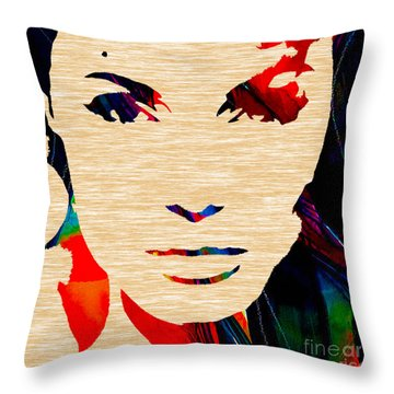 Angelina Jolie Collection Throw Pillow by Marvin Blaine