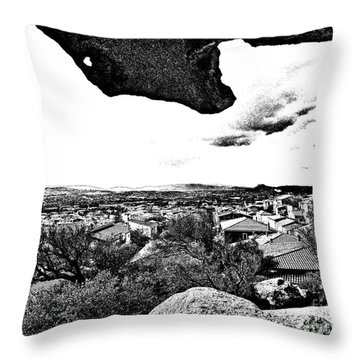 Arzachena Landscape Throw Pillow