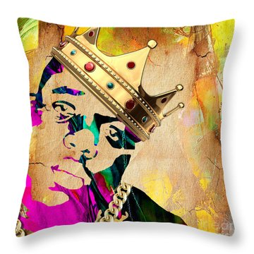 Biggie Collection Throw Pillow