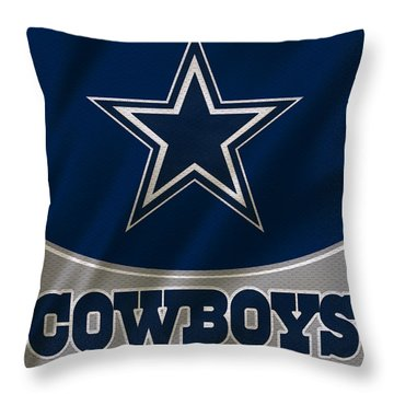 Dallas Cowboys Uniform Throw Pillow by Joe Hamilton
