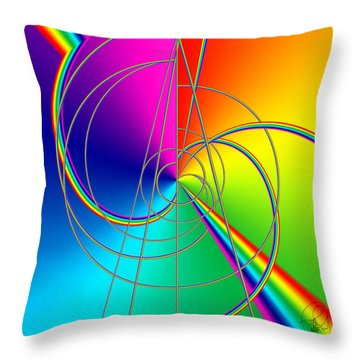 Depression Color Therapy Inside A Rainbow Throw Pillow by Sir Josef - Social Critic - ART