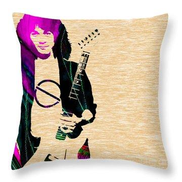 Eddie Van Halen Collection Throw Pillow by Marvin Blaine