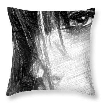 Facial Expressions Throw Pillow by Rafael Salazar