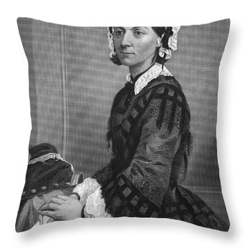 Florence Nightingale Throw Pillow by Granger