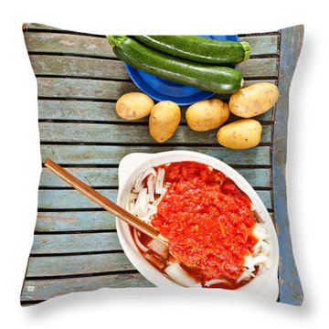 Zucchini Throw Pillows