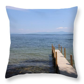 Lake Winnipesaukee Throw Pillow