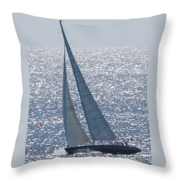 12 Meter True North Throw Pillow