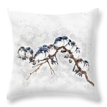 12 On A Twig Throw Pillow