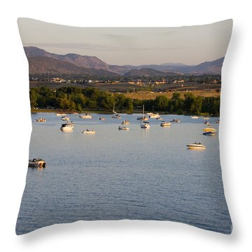 Rocky Mountain Balloon Festival Throw Pillow