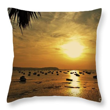 Sunset Throw Pillow by Katy Mei