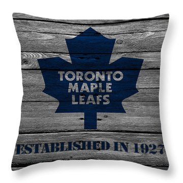 Toronto Maple Leafs Throw Pillow by Joe Hamilton