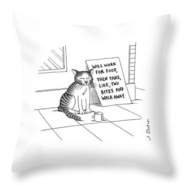 New Yorker September 22nd, 2008 Throw Pillow