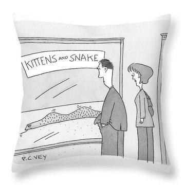 New Yorker December 17th, 2007 Throw Pillow