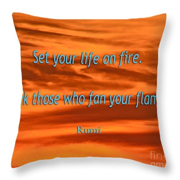 120- Rumi Throw Pillow