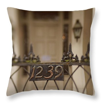 Throw Pillow featuring the photograph 1239 Gate by Heather Green