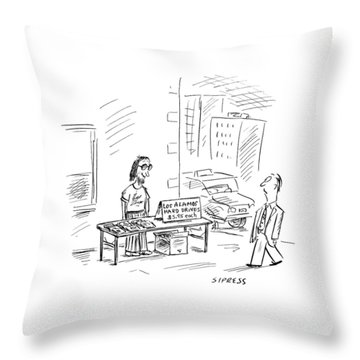 New Yorker July 3rd, 2000 Throw Pillow