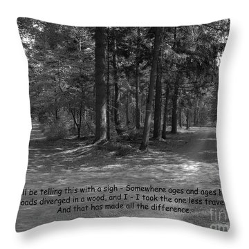 12a- Robert Frost  Throw Pillow by Joseph Keane