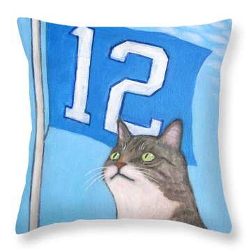 12th Cat #1 Throw Pillow
