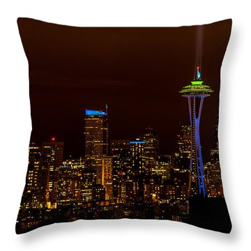 12th Man Light New Throw Pillow