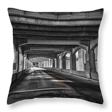 12th Street Bridge Throw Pillow