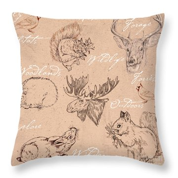 Wildlife Animal Pattern Throw Pillow