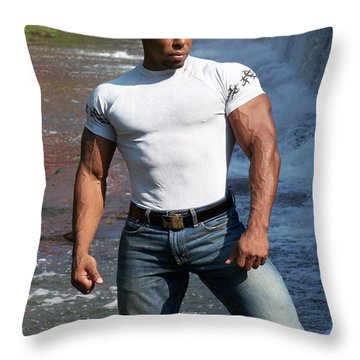 Art Of Muscle Throw Pillow by Jake Hartz