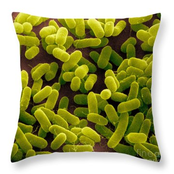 E. Coli Bacteria Sem Throw Pillow