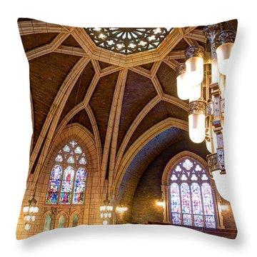 Hennepin Avenue Methodist Church Throw Pillow by Amanda Stadther