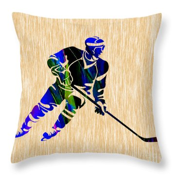 Hockey Throw Pillow
