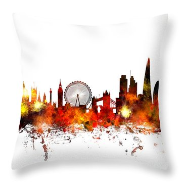 London Skyline Throw Pillows