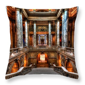 Minnesota State Capitol Throw Pillow by Amanda Stadther