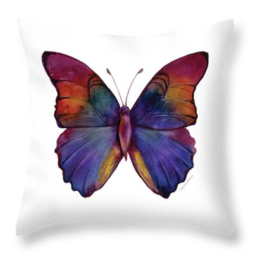 13 Narcissus Butterfly Throw Pillow