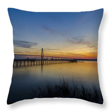 Peacefull Hues Of Orange And Yellow  Throw Pillow by Dale Powell