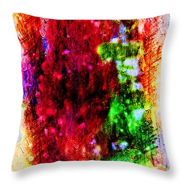 Red Clovers Throw Pillow