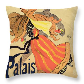 Reproduction Of A Poster Advertising Throw Pillow
