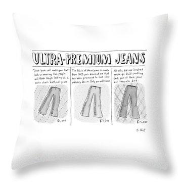 Ultra-premium Jeans Throw Pillow
