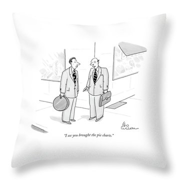 I See You Brought The Pie Charts Throw Pillow