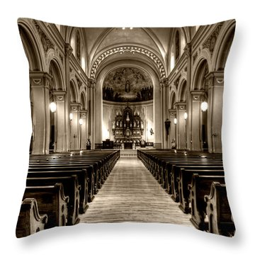 Church Of The Assumption Throw Pillow by Amanda Stadther