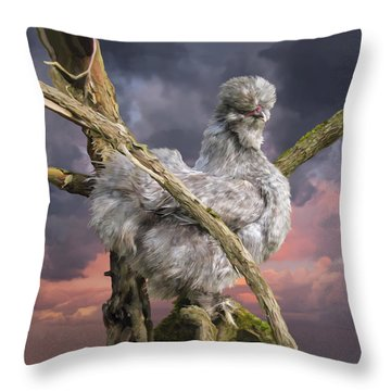 14. Cuckoo Bush Throw Pillow