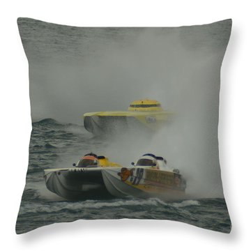 Port Huron Sarnia International Offshore Powerboat Race Throw Pillow by Randy J Heath