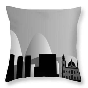 Rio De Janeiro Skyline Throw Pillow by Michal Boubin