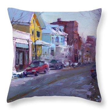 149 Elmwood Ave Savoy Throw Pillow by Ylli Haruni