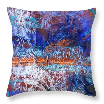 Under Construction Throw Pillow by Tracy L Teeter